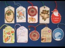 DIY Как сделать бирки своими руками Скрапбукинг Мастер класс Tags for Gifts