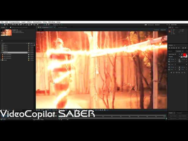 Visual Effects Fire Twist Tutorial with VideoCopilot SABER | After Effects CC 2015
