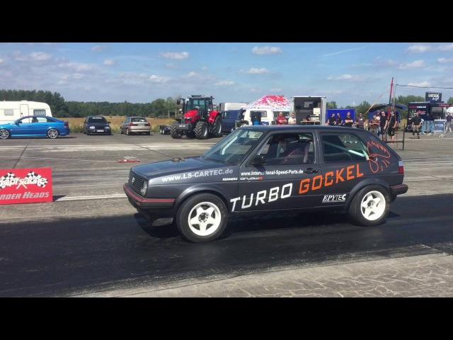 VW Golf Mk2 VR6 Turbo 4motion 1000 HP 1 4 Mile Drag Race Turbo Gockel Renner