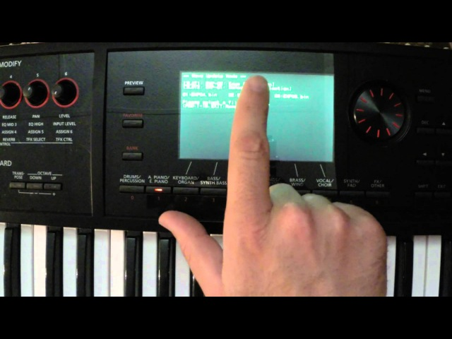 FA06 Tutorial Loading Expansions Sounds on your FA06