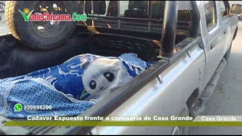 CADAVER EXPUESTO EN COMISARIA DE CASA GRANDE