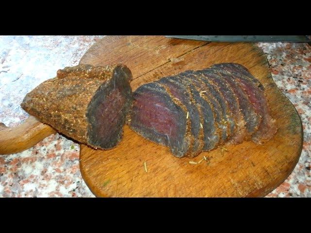 сыровяленое мясо в домашних условиях dry cured meat at home