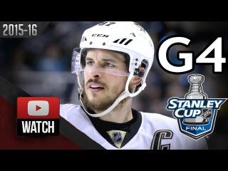 Pittsburgh Penguins vs San Jose Sharks. 2016 NHL Playoffs. SCF. Game 4. . (HD)