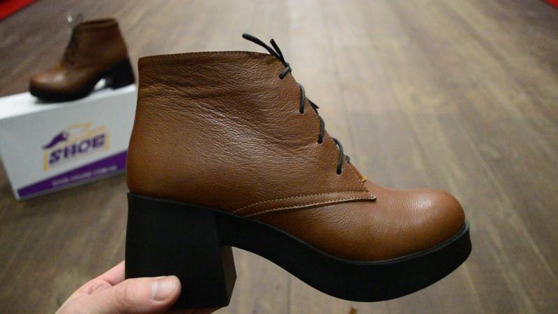 Женские кожаные зимние ботинки Miluchi