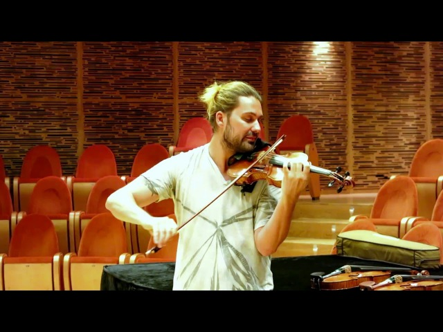 DAVID GARRETT at Museo del Violino in Cremona trying different violins which could be the best