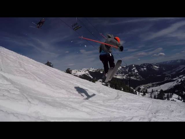 Leo Taillefer Double Backflip @ Alpental on the LINE Supernatural