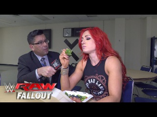 [#My1] Becky Lynch refuses to let Emma ruin her meal: Raw Fallout, April 25, 2016