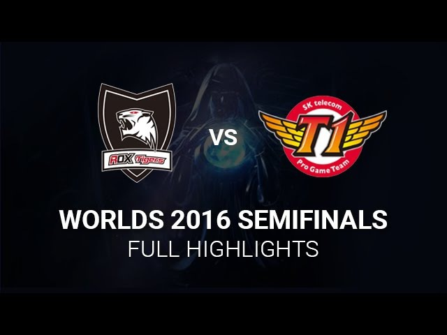 SKT vs ROX Highlights Semifinals All Games S6 Worlds 2016 Semi final SK Telecom T1 vs ROX Tigers H