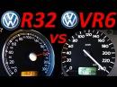 VW Golf 3 VR6 vs VW Golf 4 R32 - 0-200 Km/h Acceleration Autobahn compare