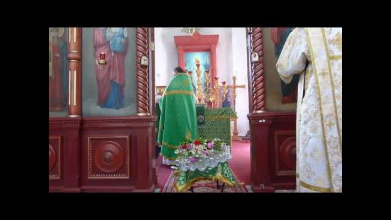 Иерей Алексей Брагин Чтение коленопреклонных молитв в день Святой Троицы