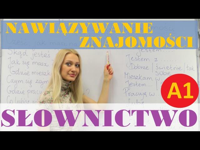 Polish for Foreigners - nawiązywanie znajomości