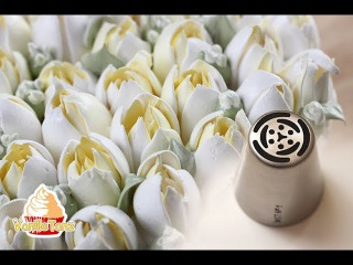 Wie man richtig mit russischen Tüllen Blumen spritzt GELING TIPS !