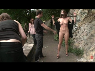Big Natural Tits exposed in the Street - Public Disgrace