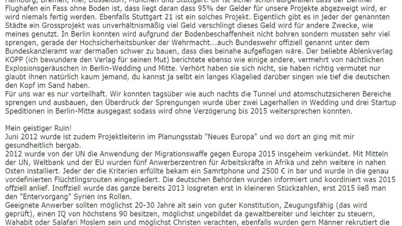 ZERBERSTER ZUSCHAUERPOST - TEIL 10 DIPLOM INGENIEURIN ÜBER FLÜCHTLINGE DEUTSCHLANDS ZUKUNFT!
