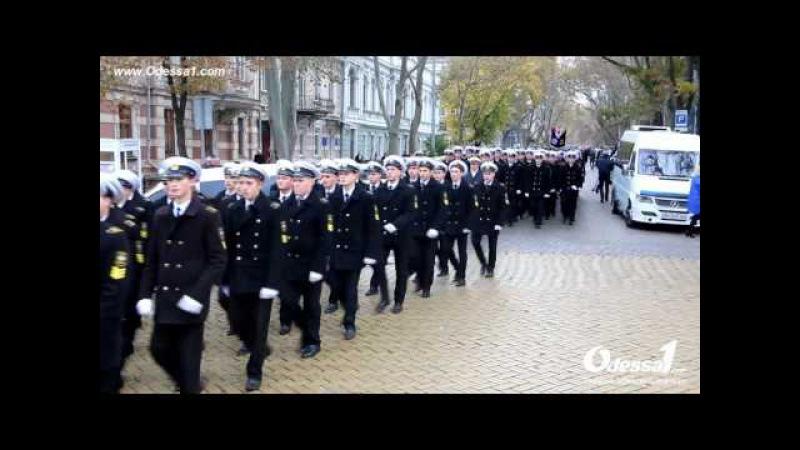Марш курсантов МКТФ к 72 й годовщине со дня основания колледжа