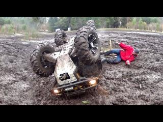 Неудачи Самарских Квадроцыклистов /ATV  Crashes & Fails /Падения и утопления квадроцыклов