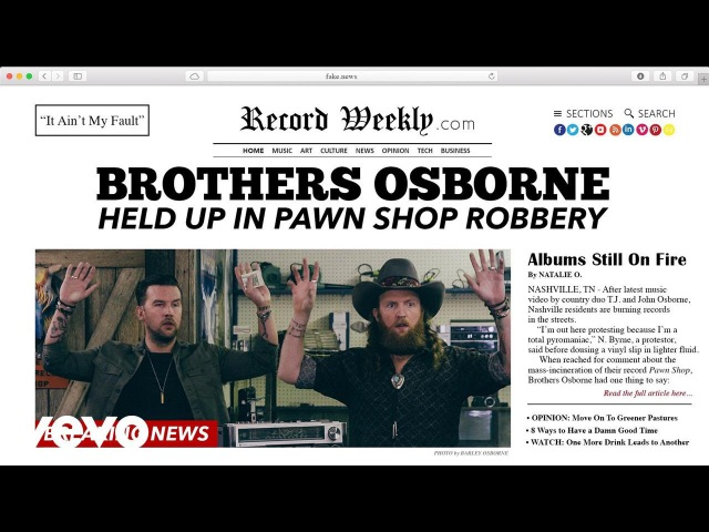 Brothers Osborne It Ain t My Fault Official Video