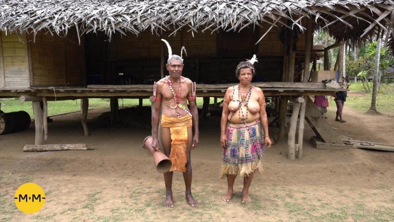 Экспедиция Mаклая Традиционная одежда деревни Гумбу Папуа Новая Гвинея