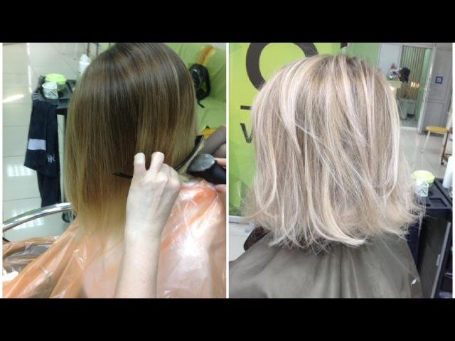 Осветление волос холодный блондин Highlights Cool blonde