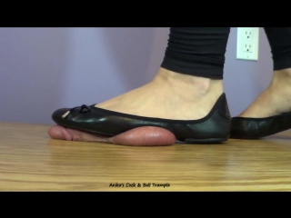 Anika flats cock trample / cock crush / shoejob / foot fetish