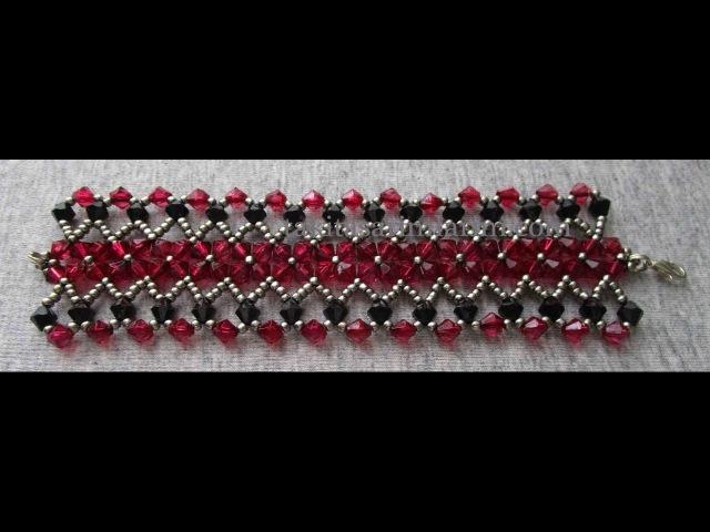 Kristal Boncuklu Kalın Bileklik Yapımı