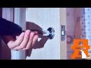 Монтаж ручки в межкомнатную дверь Установка межкомнатного замка женскими руками 🙌