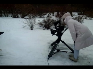 "На съемках серии ""Снег"" (Малышарики)"