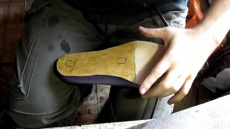 Егор Букраев Д 14. Подготовка стелек. Ручной пошив обуви