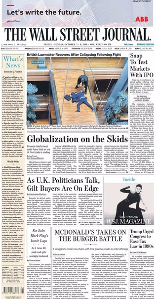 The Wall Street Journal Europe  October 07 2016