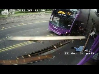 Man brutally struck by Bus, proceeds to walk to the Pub