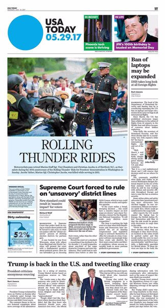USA Today May 29 2017