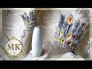 Новогодняя корона. Канзаши. Мастер-класс / D.I.Y. Christmas crown. Kanzashi.
