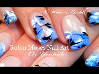 No Water Needed - Drag Marble nail art Tutorial