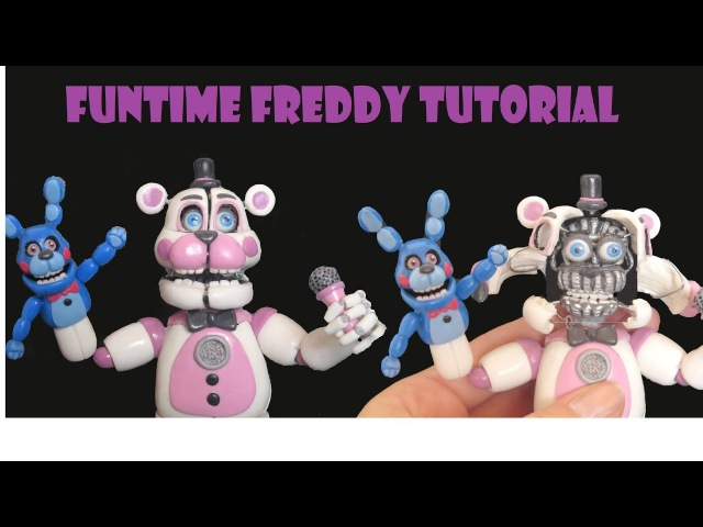 FUNTIME FREDDY - FNAF SISTER LOCATION TUTORIAL POLYMER CLAY - PORCELANA FRIA - PLASTILINA posable