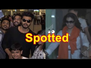 Kajol Arjun Kapoor Spotted At Airport