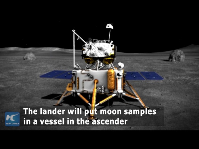 How will China's lunar probe take back moon samples
