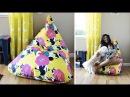 How to Make an Amazing Easy Bean Bag Chair Sillón Puff Tutorial Live Colorful