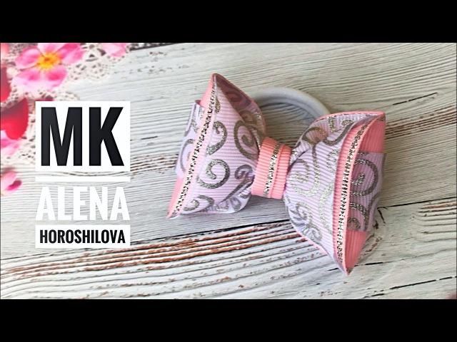Мини бантики из репса 6,5см МК Канзаши Алена Хорошилова своими руками laço de fitas ribbon bows diy