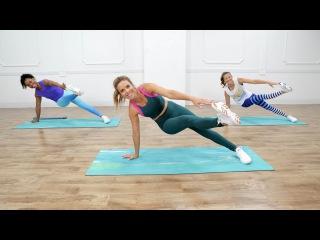 Katie Dunlop - 45-Minute Full-Body Sculpting Workout (Popsugar) | Интервальная силовая тренировка для всего тела без инвентаря