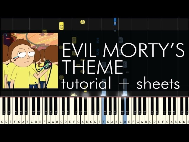 Blonde Redhead - For the Damaged Coda (Evil Morty's Theme) - Piano Tutorial Sheets