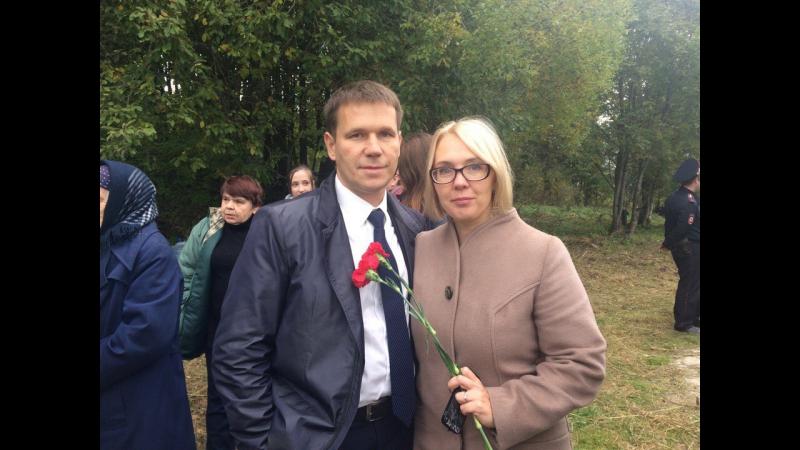 Эксклюзивное видео открытие мемориала Защитникам Смоленска в деревне Иловка