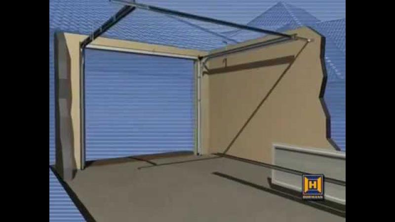 Монтаж секционных ворот для гаража Hormann видео инструкция