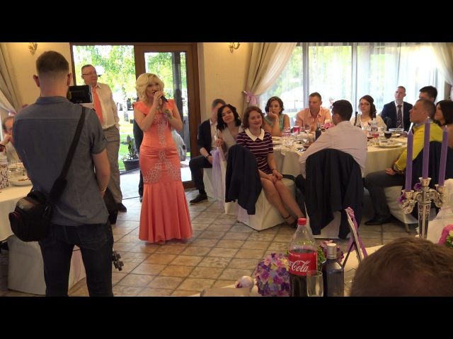 Поздравление мамы и авторская песня на свадьбе сына 08 06 2017