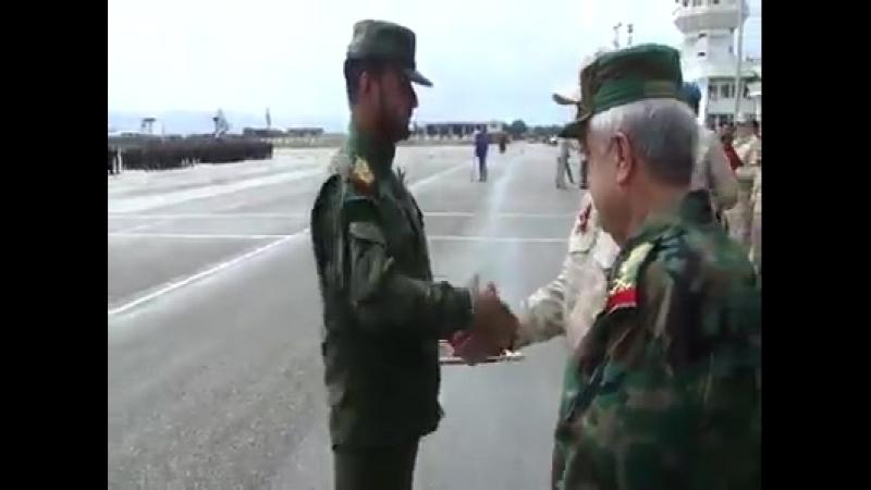 Авиабаза Хмеймим награждение Сухейля аль Хасана Орденом Суворова