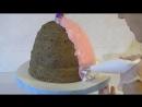 Торт Рапунцель мастер-класс Торт кукла Рапунцель Как собрать и украсить торт кук