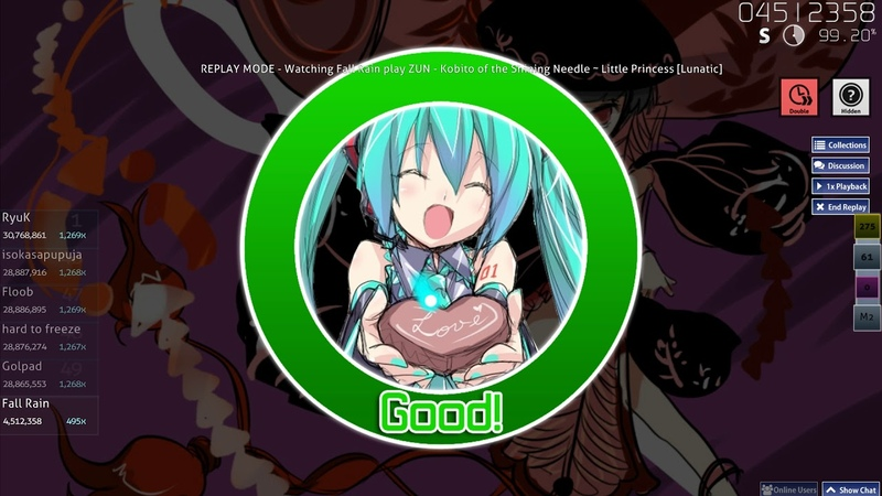 Fall Rain ZUN Kobito of the Shining Needle ~ Little Princess Lunatic HD DT 19 FC 98 5% 413pp