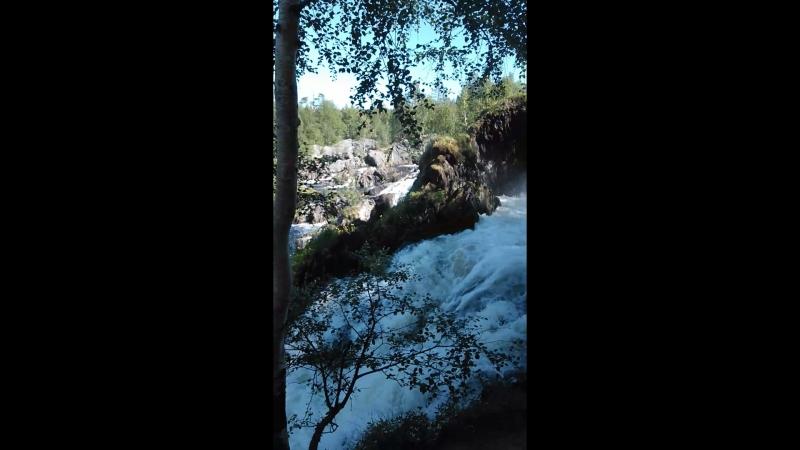 Водопад р Шуонийоки Мурманская область