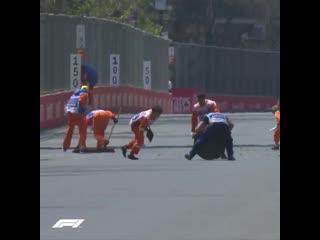 Авария на трассе Гран-при Азербайджана
