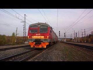 Петербуржец ЭД4М-0369 прибывает по БМО на станцию Жилево