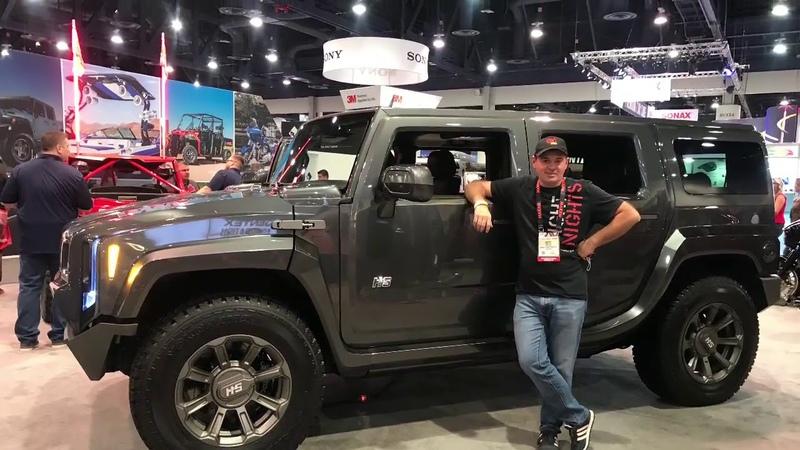 Возвращение легенды! Концепт Hummer H2S Команда Шеви Плюс на выставке Sema Show 2018